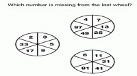 Which number is missing from last wheel?