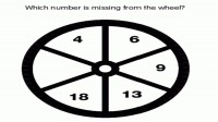 Which number is missing from wheel?