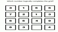 Which Number logically complete the grid